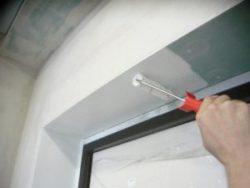 Окраска откосов водоэмульсионной краской (в 2 слоя)